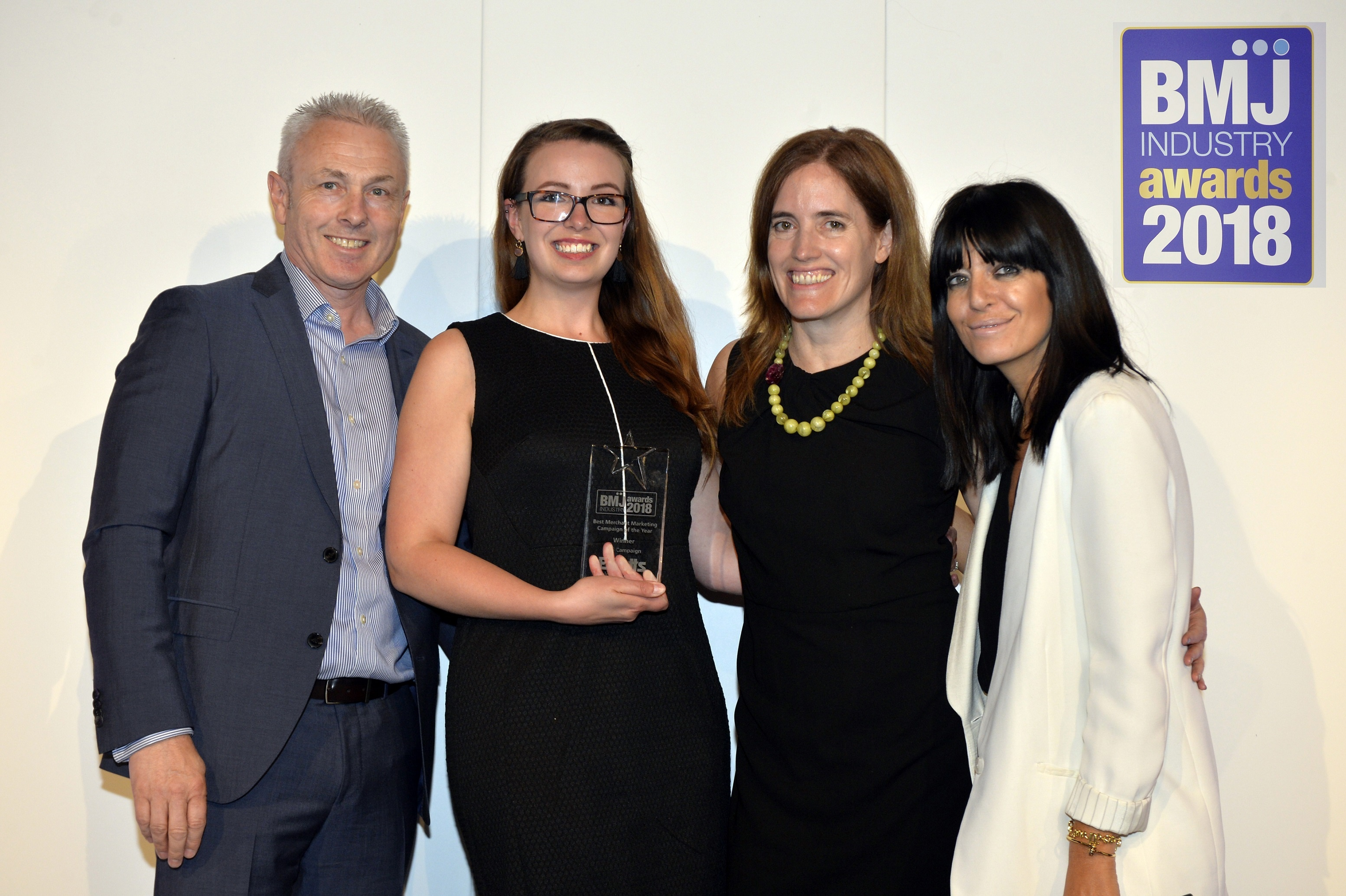 Emma Tweney and Julie Shaw collect the award for Best Merchant Marketing Campaign