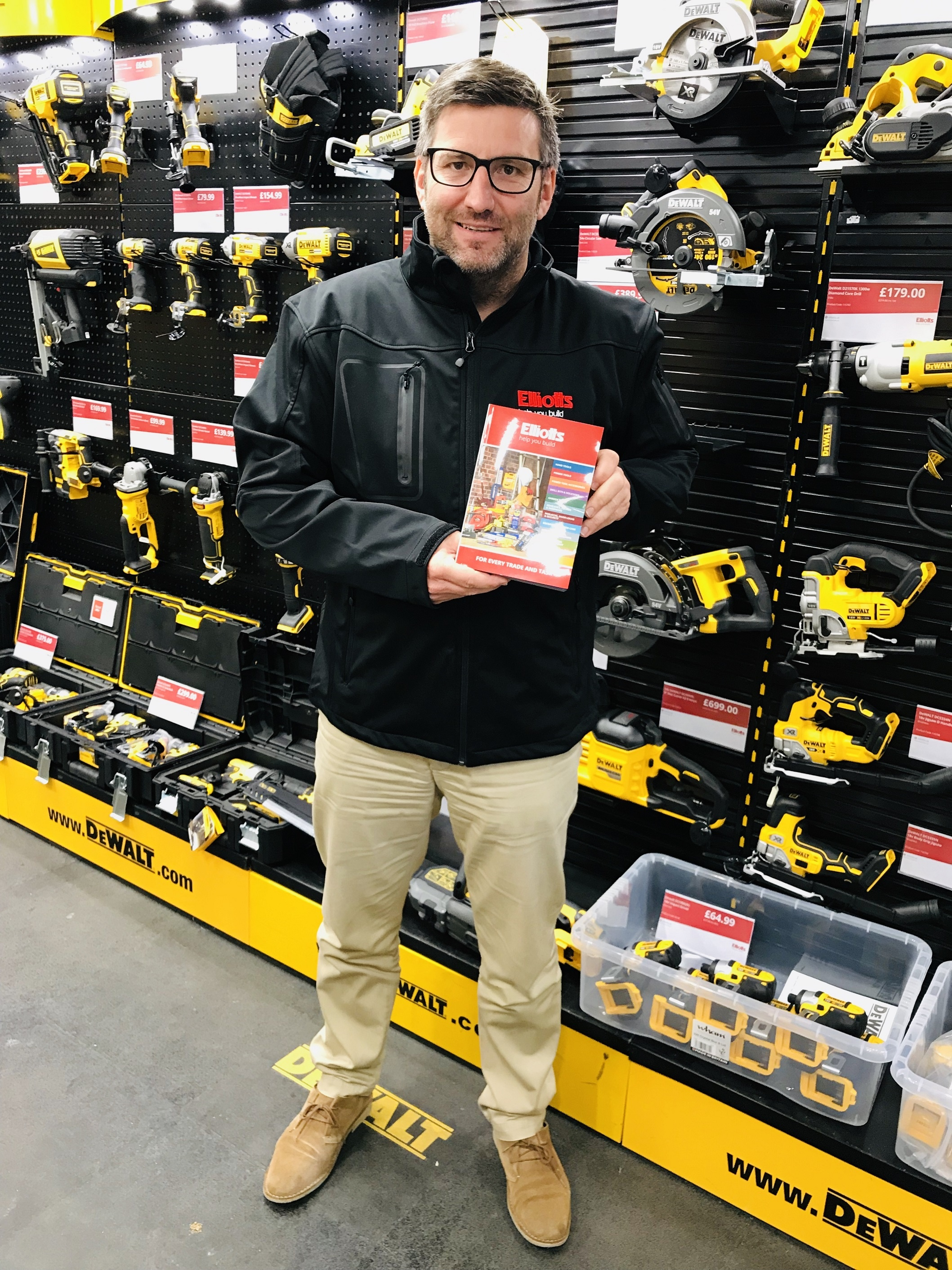 Ted Tugwell and our new Elliotts tools brochure