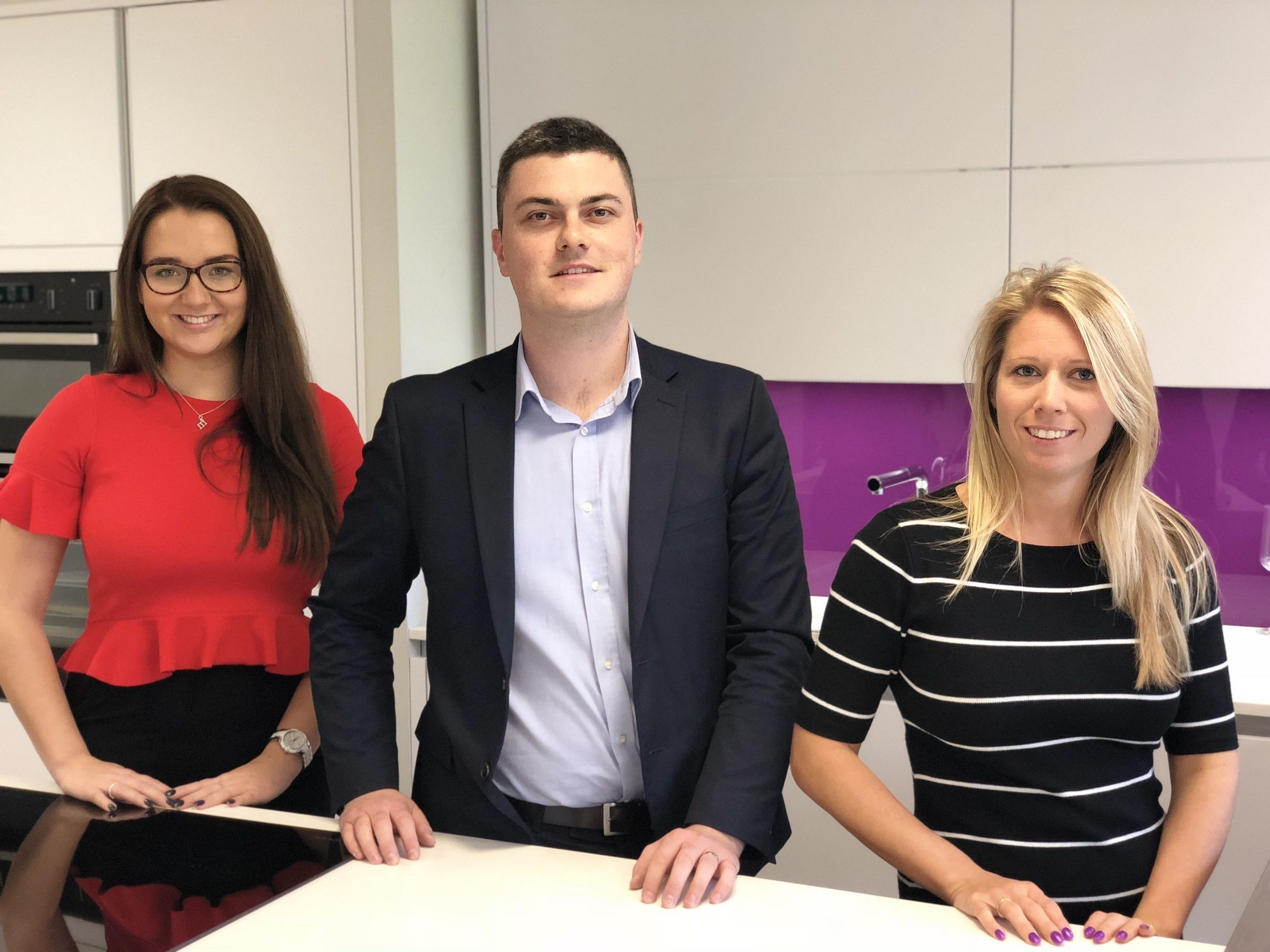 The new team at Elliotts Living Spaces, Ringwood. From left to right, Bryony Downs, Lawrence Morgan and Jemma Collins