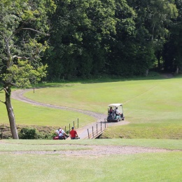 Moving around the course at the Elliotts charity golf day 2019
