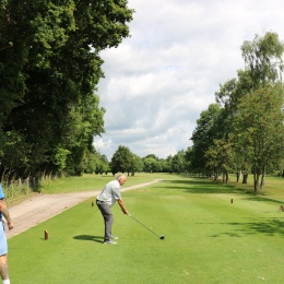 Teeing off at the Elliott charity golf day 2019
