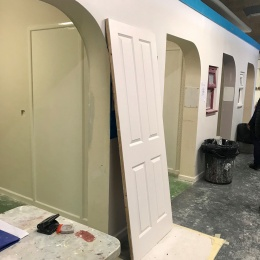 An internal door donated by Elliotts has been used by painting and decorating students at City College