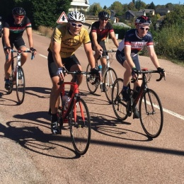 Some of Team Elliott's riding the Annecy Challenge
